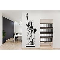 """Estados Unidos de la Estatua de la libertad–Amazing vinilo, negro, Small: 30cm x 90cm / 12"""" x 35"""""""