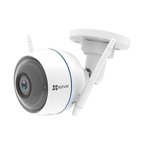 EZVIZ ezTube 720p Telecamera di Sorveglianza Esterna, WiFi, Visione Notturna, IP66 Antipolvere e Impermeabile, Stroboscopo e Sirena Difesa Attiva, Cloud, Compatibile con Alexa, Audio a 2 Vie