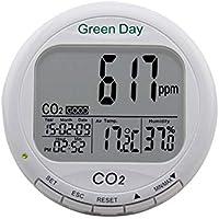Huanyu AZ7788 - Alarma de dióxido de Carbono CO2, probador de Calidad de Aire Interior CO2, RH, Temperatura 3 en 1, Rango de medición de 0 a 9000 ppm