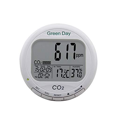 Huanyu Desktop Carbon Dioxid CO2 Dectector Alarm Indoor Air Quality Tester CO2/RH/Temp 3 in 1 Monitor 0 bis 9000 ppm Messbereich unterstützt AZ7788 -