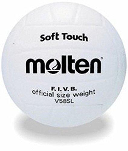 Molten V58sl Volleyball, synthetisches Leder, Soft Touch, Wettkampf-Qualität, offizielle Größe