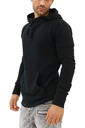 trueprodigy Casual Herren Marken Sweatshirt mit Aufdruck, Oberteil cool und stylisch mit Kapuze (Langarm & Slim Fit), Hoodie für Männer in Farbe: Schwarz 2582106-2999-S, Größe:L, Farben:Schwarz