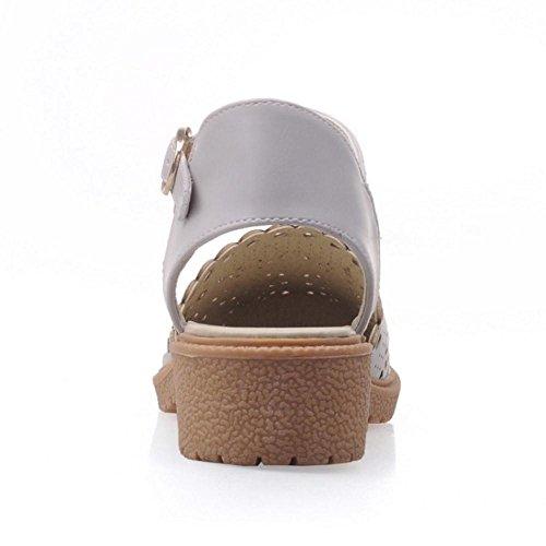 Femmes Ete Bride Gray 2 Cheville Chaussures Coolcept FxS8qRwF