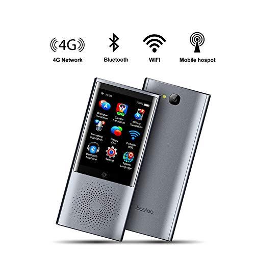 LXYFMS Übersetzungsausrüstung Sprachfotoübersetzung 2.8 Touchscreen Sprachübersetzung 45 Sprachen Reise- und Geschäftsübersetzung 4G WiFi 8GB Speicher 2080mAh Übersetzer