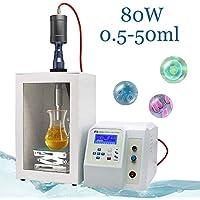Mxmoonant 80W Homogeneizador ultrasónico Procesador de sonicador 0.5-50ml Capacidad para la dispersión de mezcla de emulsión homogeneizadora con sonda de Φ3mm