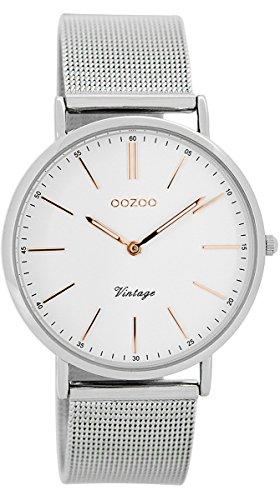 Oozoo Vintage Damen-Armbanduhr Weiß/Silber 36 mm C7396