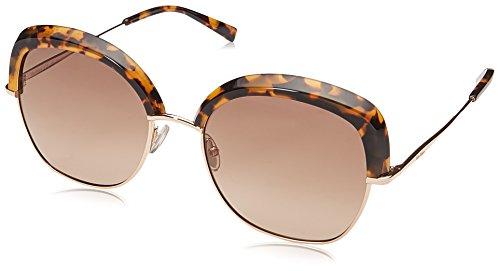Max mara mm needle v ha 2ik, occhiali da sole donna, oro (havana gold/bw brown), 56