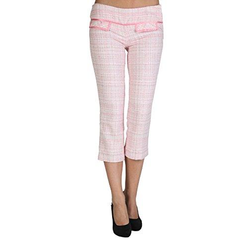 Pantaloncini EXTYN PI31VERDE PI31ROSA, pantaloni da donna, pantaloni capri, pantaloni estivi, taglia S, Colore Verde, rosa rosa