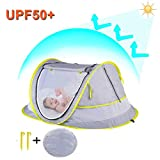StillCool Cuna plegable portátil Pop Up Beach Tent Sun Shelter con 2...