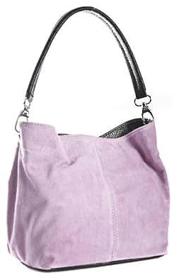 Big Handbag Shop Womens Small Mini Single Strap Hobo Slouch Shoulder Bag (02 Baby Pink)