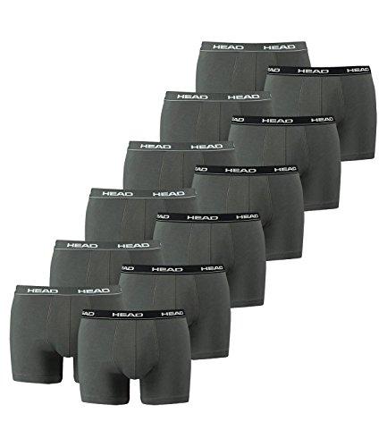 HEAD Herren Boxershorts 841001001 12er Pack white/black/grey