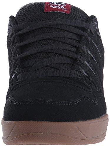 DVS Shoes Herren Tycho Skateboardschuhe Schwarz (Blk/Gum/Nubuck Getz)