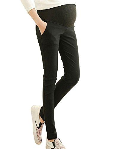 0fa895728 Pantalones Embarazada Elasticos Premamá Leggings Para Mujer Negro XL ...