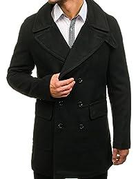 BOLF Herren Mantel Wintermantel Zweireihiger Knöpfbar Lang Coat 4D4