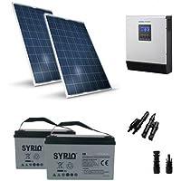 Kit Solare Baita Pro 500W 24V Impianto Fotovoltaico Stand-Alone Isola