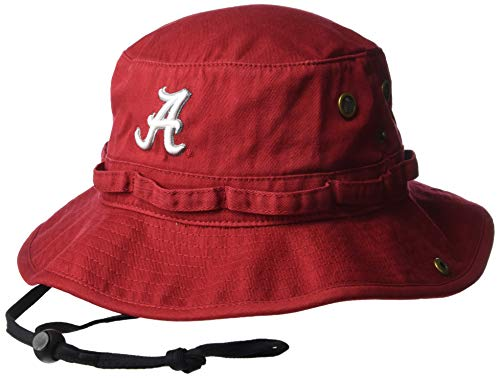 Top of the World NCAA Herren Bucket Hat Verstellbare Mannschaftssymbole, Herren, Elite Fan Shop NCAA Men's Bucket Boonie Hat Team, Alabama Crimson Tide Crimson, Einstellbar