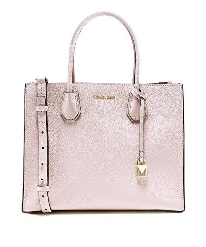 Michael Kors Damen Mercer Tote, Pink (Soft Pink), 12.7x21.6x26 centimeters (Soft-handtasche Rosa)