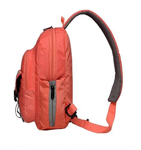 BULAGE Tasche Brusttasche Männer Und Frauen Im Freien Sport Rucksack Multifunktional Messenger Reisen Essen Wandern Farbe Orange