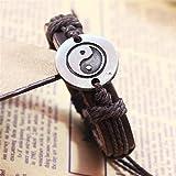 QWERST Bracelet Nouveau Style De Tai Chi Ying Yang Bracelet Bracelets Bijoux Uniques