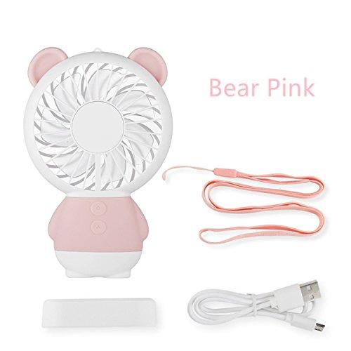 Tragbarer Ventilator mit persönlicher Halskette, USB-aufladbarer Ventilator mit LED-Licht, für den Innen- und Außenbereich