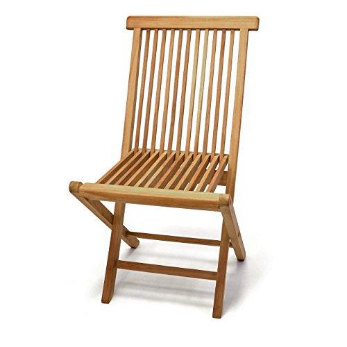 Divero Gartenmöbel-Set Terrassenmöbel-Garnitur Sitzgruppe 5-tlg. Tisch achteckig Ø 100 cm 4 x Holzstuhl klappbar – Teakholz massiv behandelt