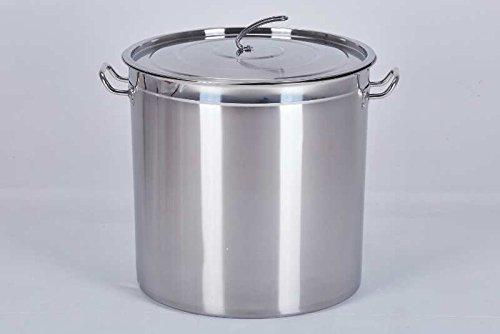 Euro Tische Gastronomie Kochtopf Suppentopf - 20 bis 100 Liter Edelstahl Kochtöpfe - ideal geeignet für ALLE Herdarten & große Küchen - Gastro Topfset (100L)