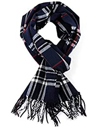 DELHITRADERSS® Woolen Muffler,Scarves,Stoles for Men & Women(Checked Blue-03)