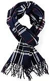 DELHITRADERSS® Woolen Muffler,Scarves,Stoles for Men & Women(Checked Blue-03)