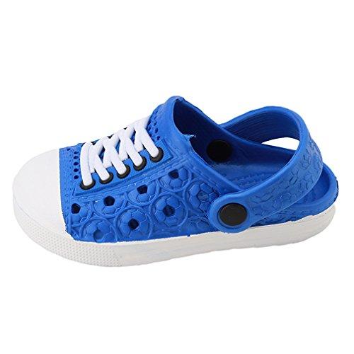 Lalang Kinder Hausschuhe Clogs in versch Größen EVA-Clog Unisex Kinder Sandalen (26, Blau)
