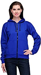 Scott Womens Premium Rich Cotton Pullover Hoodie Sweatshirt with Zip - Royal Blue - 1.1_lsslz11_XL