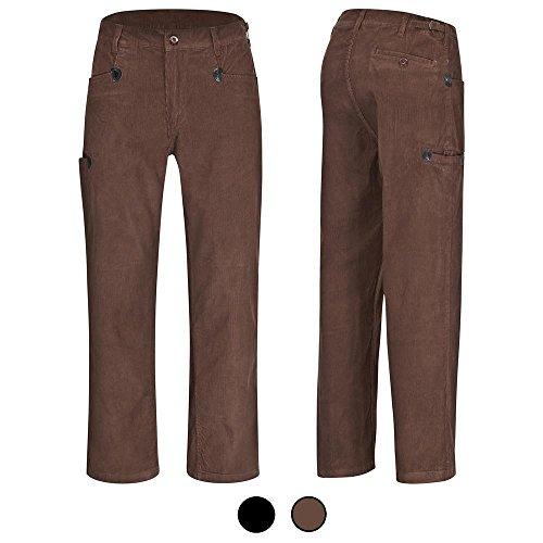 Preisvergleich Produktbild DESERMO® Cord-Arbeitshose Bundhose aus 100% Genua-Cord BW320 - braun Gr. 54