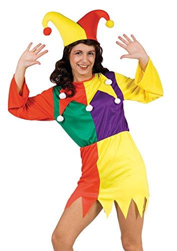 Blumen Paolo-Hofnarr Kostüm unisex-adult, mehrfarbig, Größe 40-42,