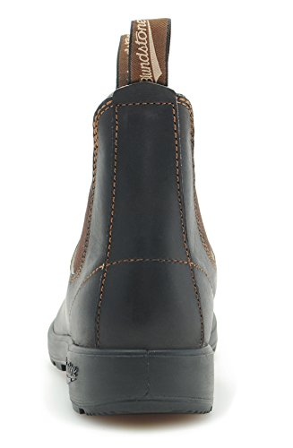 Blundstone Style 500 Classic Chelsea Boots Unisex Stiefelette + 250 ml Lederpflege | Stout Brown Braun (Stout Brown)