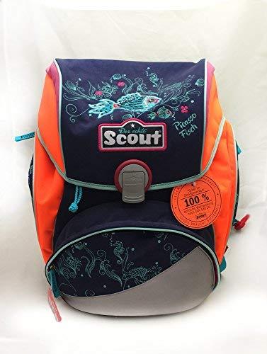 Scout - Alpha Schulranzen Set 4tlg. Picasso Fisch