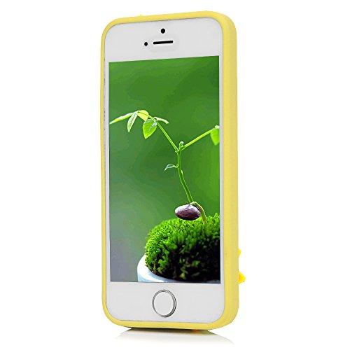 iPhone 5/SE Hülle Badalink Wassermelone und Ananas TPU Case Cover Glitzern Ultraslim Handyhülle Schutzhülle Silikon Bumper Schutz Tasche Schale Antikratz Backcover Mädchen