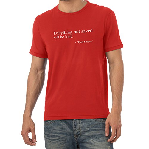 TEXLAB - Everything not saved will be lost - Herren T-Shirt Rot