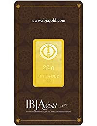 IBJA Gold 24k (999) 20 gm Yellow Gold Bar