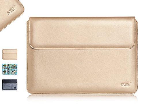 iPad Pro Hülle, Fyy [Luxuriöse Gold] hochwertige 100% handgenähte Kunstleder Hülle mit Tasche für Apple iPad Pro 12.9,Gold