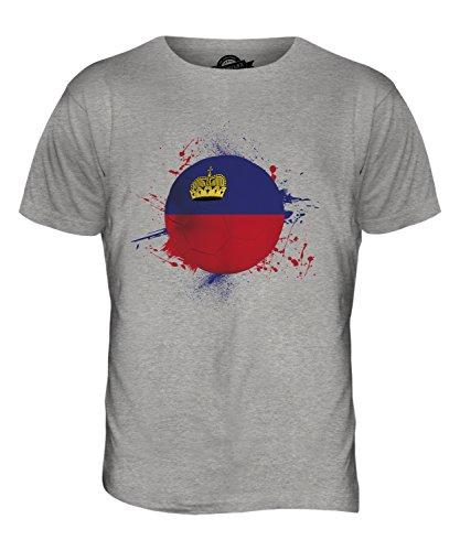 CandyMix Liechtenstein Fußball Herren T Shirt Grau Meliert