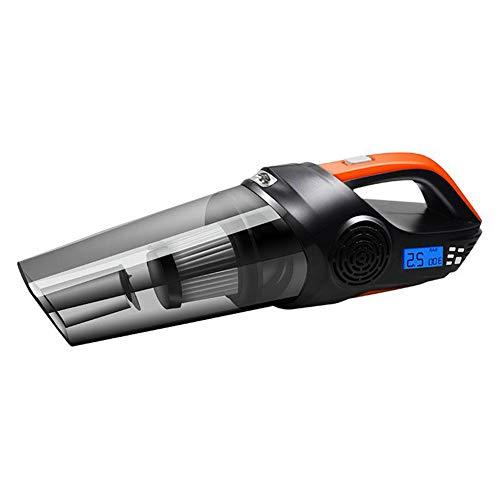 LYA Auto Vakuum, 5-In-1Cleaner Tragbare Auto Nass Und Trocken Mini Staubsauger DC12V 120 Watt Reifenfüller Pumpe Manometer LED-Licht -