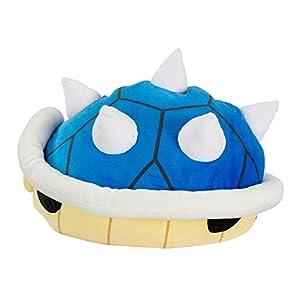 TOMY Mario Kart-Peluche Mochi caparazón Azul 40cm 1, t12956