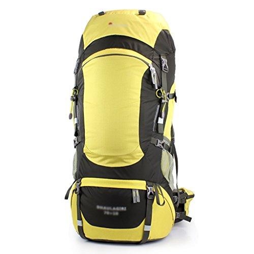 HWLXBB Borsa per alpinismo all'aperto Uomini e donne 70L + 10L Borsa per alpinismo multifunzione impermeabile Escursioni alpinismo Zainetto per il tempo libero all'alpinismo zaino ( Colore : B ) B