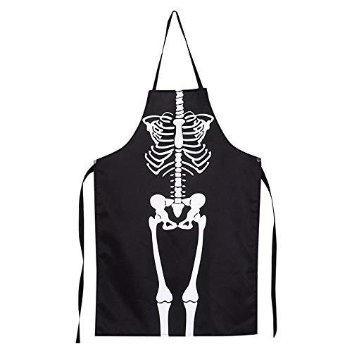 VECDY Damen Kleid, Herbst 1 STÜCKE Küche Cosplay Horror Chef Halloween Skelett Schürze Kostüm Party Supplies Karneval Party Kellner Schürze Küchenschürze