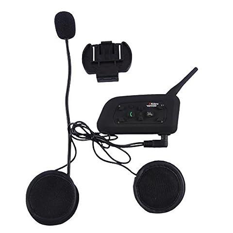V6 1200M Bluetooth Intercom Motorrad Helm Headset Vollduplex Wasserdicht Interphone Great für Outdoor-Sportarten