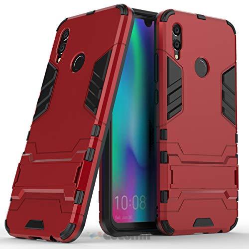 Cocomii Iron Man Armor Huawei Honor 10 lite/P Smart 2019 Hülle [Strapazierfähig] Taktisch Griff Ständer Stoßfest Gehäuse [Militärisch Verteidiger] Case Schutzhülle for Huawei Honor 10 lite (I.Red) - Cellular Shield
