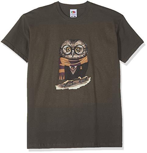 Texlab Kinder Harry Owl T-Shirt, Grau, 9-11 Jahre-140 (L)