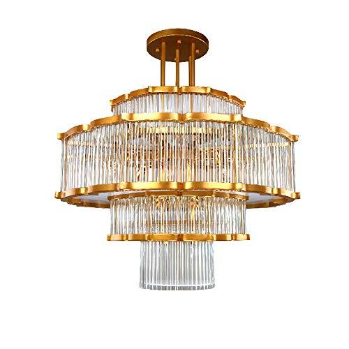 XF Kronleuchter Kristallleuchter Moderne Wohnzimmer Einfache Hotel Lobby Licht Luxus Designer Art Villa Atmosphäre Lampen -60 * 60 CM, 60 * 80 CM Deckenbeleuchtung (größe : 60 * 60CM) -