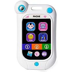 Ogquaton Bébé précoce d'apprentissage écran Tactile téléphone Intelligent téléphone Portable Enfants Jouets Bleu Durable et utile
