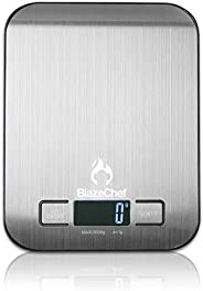 BlazeChef Kitchen Scale – Digital Food Scale – 5Kg Capacity Scale for Baking, Cooking & Dieting– Premium S