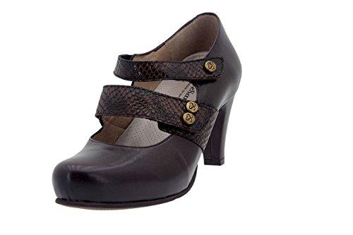 Chaussures femme confort cuir Piesanto 5228 Chaussures de soirée spéciale confort Large Caoba